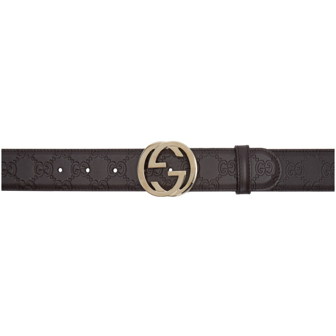 GUCCI Brown Interlocking G Belt
