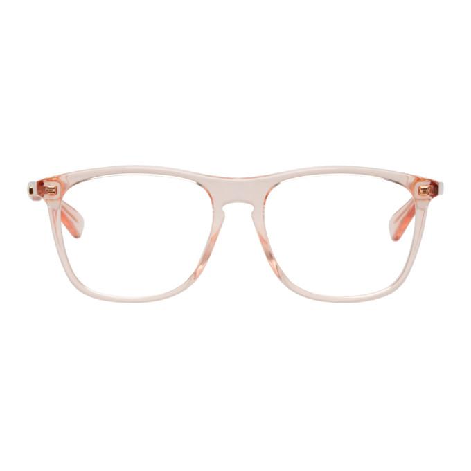 GUCCI Pink Rectangular Glasses