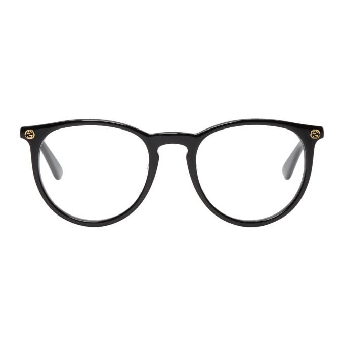 GUCCI Black Round Pantos Glasses
