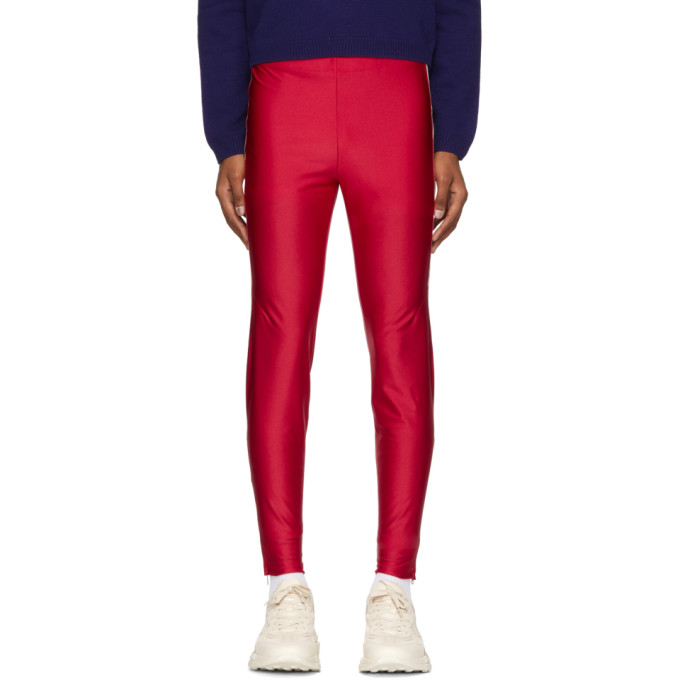 GUCCI RED LOGO BAND LOUNGE PANTS