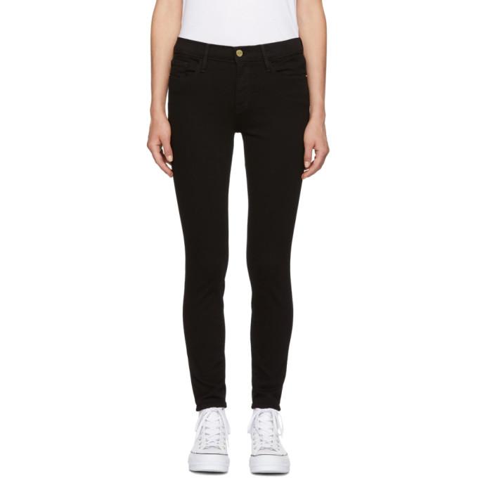 Black 'Le Color' Crop Jeans from SSENSE