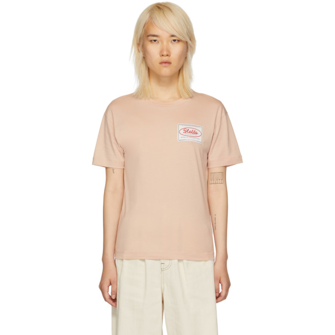 STELLA MCCARTNEY Pink 'Stella Tag' T-Shirt