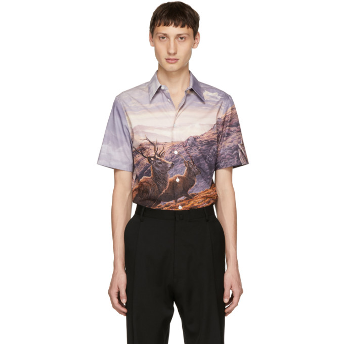 Print Short-Sleeve Shirt in Pink