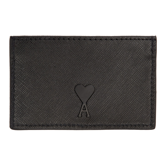 Black Card Holder by Ami Alexandre Mattiussi