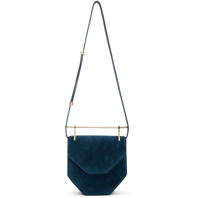 M2MALLETIER BLUE SUEDE AMOR FATI BAG