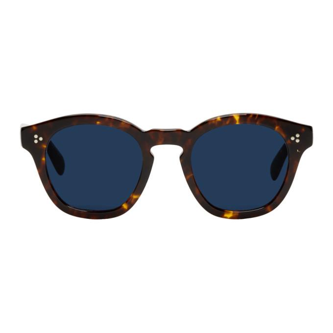 Oliver Peoples Tortoiseshell & Blue Boudreau L.A. Sunglasses