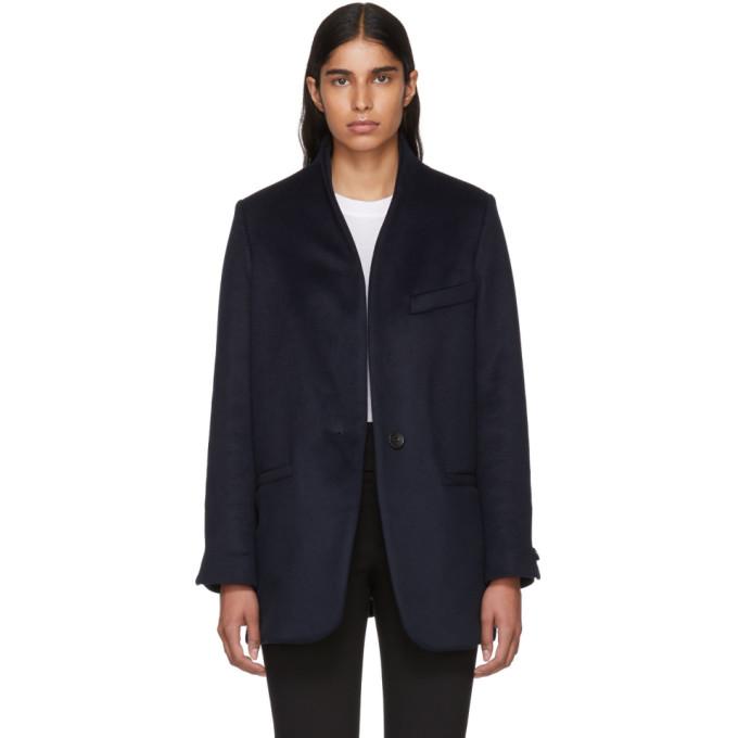 Felis Wool And Cashmere Coat in 30Mi Midnig