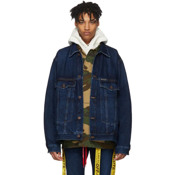 Blue Exaggerated Denim Jacket