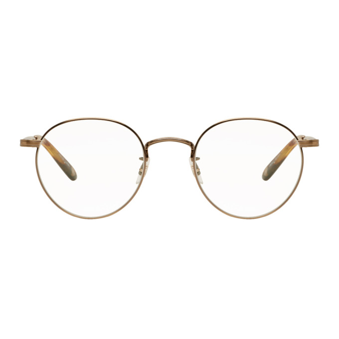 bbd4546a5b Garrett Leight Wilson 49 Round-Frame Glasses In Gold