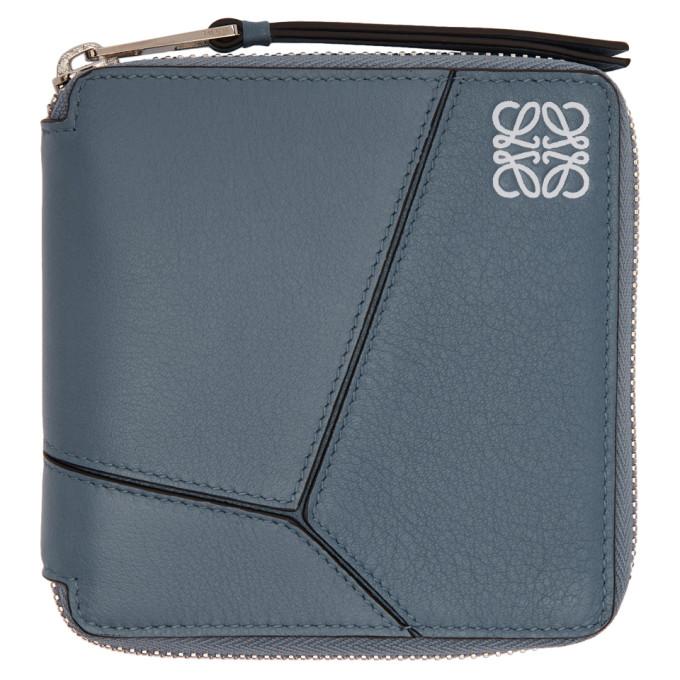 LOEWE Blue Puzzle Square Wallet