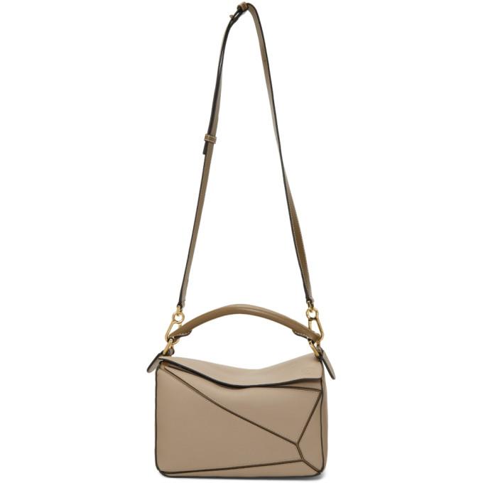 Brown Small Puzzle Bag by Loewe
