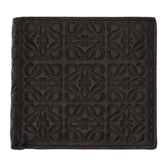 LOEWE Embossed Bifold Wallet, 1100.Black