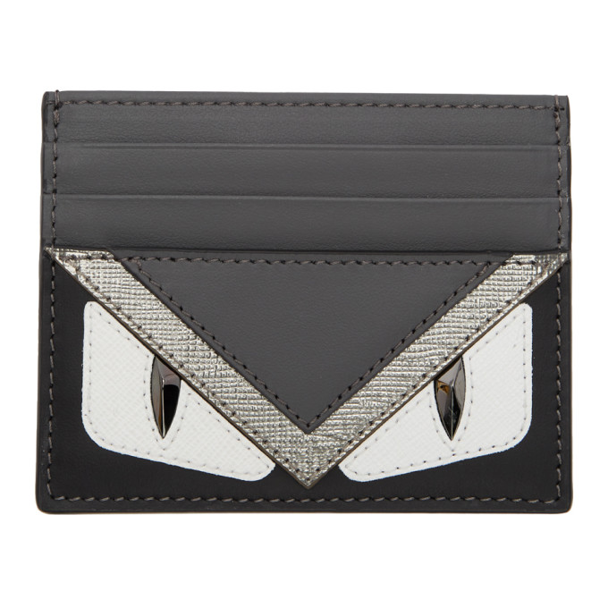 FENDI Tricolor 'Bag Bugs' Card Holder