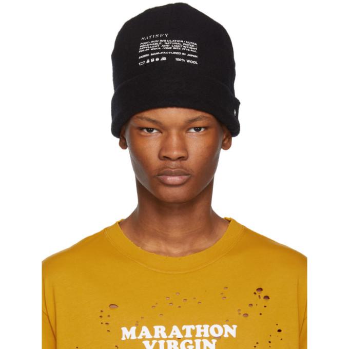 SATISFY BLACK AIR-WOOL HAT