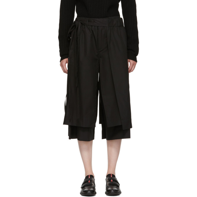 CRAIG GREEN BLACK LAYERED TRACK TROUSERS