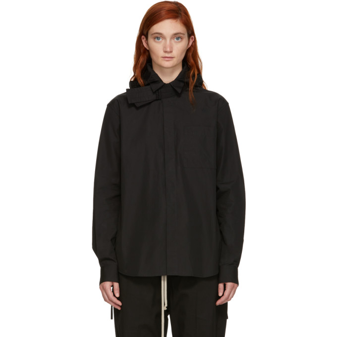 CRAIG GREEN BLACK POPLIN HOODED SHIRT