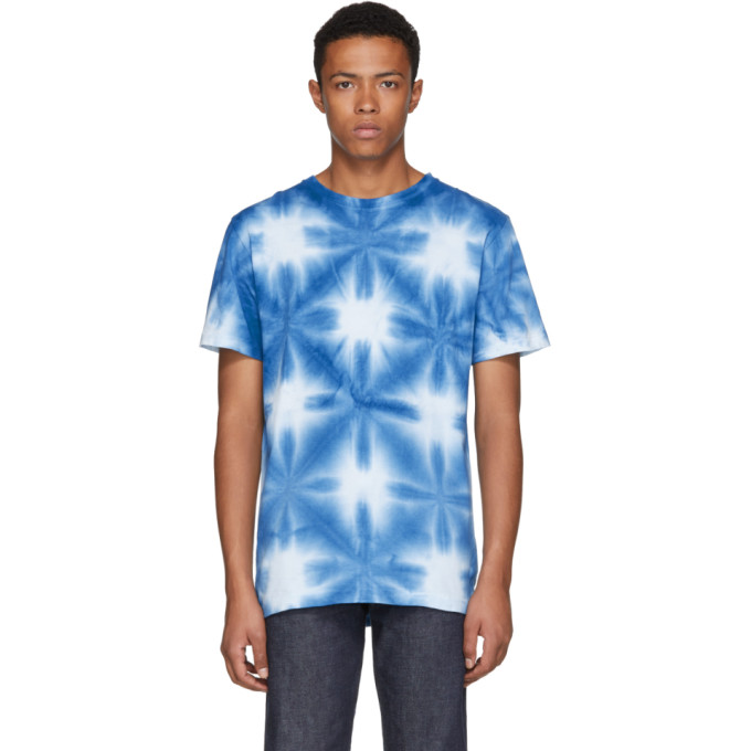 BLUE BLUE JAPAN Washed Tie-Dyed Cotton-Jersey T-Shirt - Blue in 99-One