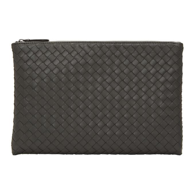 Grey Medium Zip Pouch from SSENSE