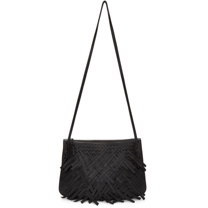 Black Palio Fringes Double Strap Bag from SSENSE