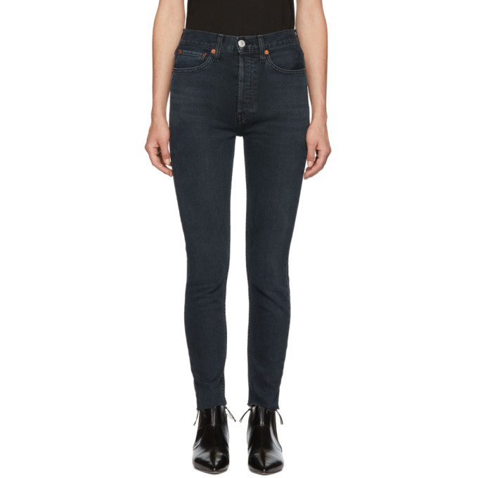 Black Originals High-Rise Ankle Crop Jeans from SSENSE