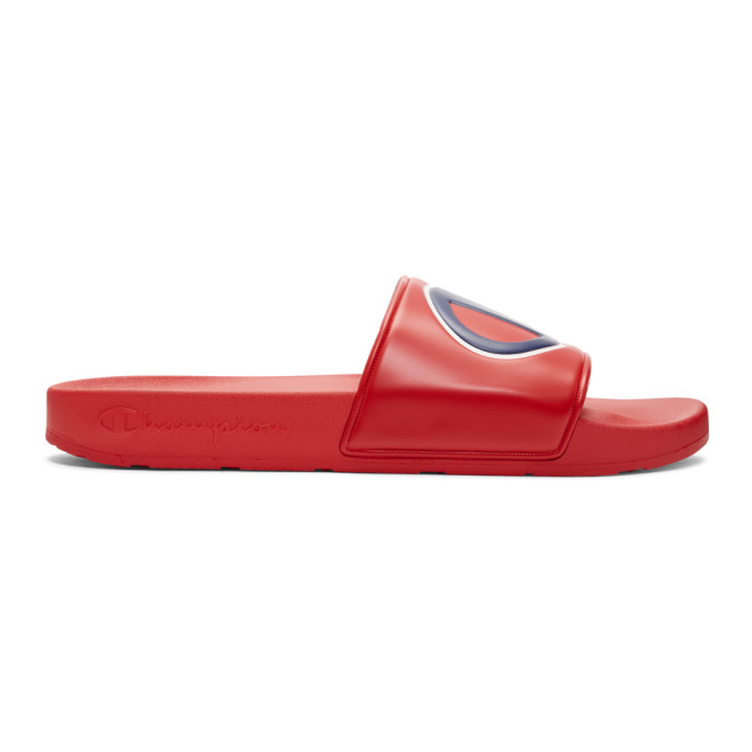 Ipo Sports Slide Sandal in Red