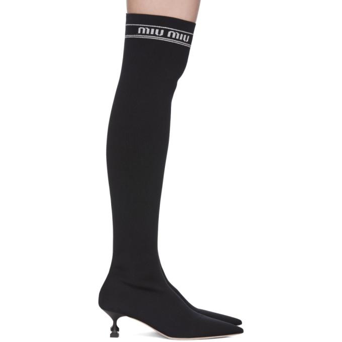 7d8d9059069 black-over-the-knee-sock-boots by miu-miu