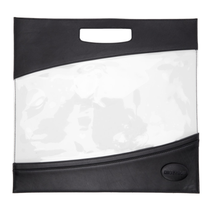 RIBEYRON BLACK AND CLEAR TOTE