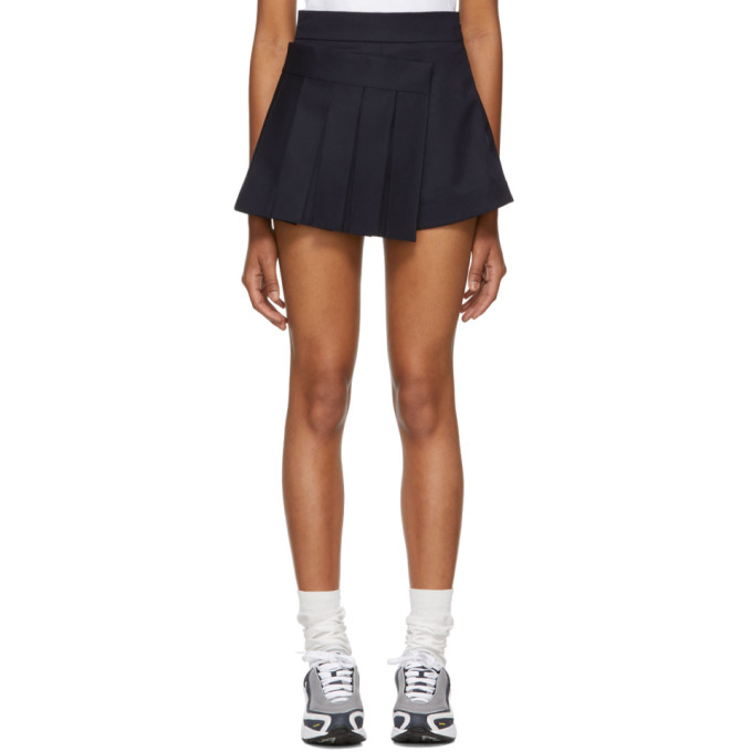 SHUSHU/TONG NAVY PLEATS SKORT