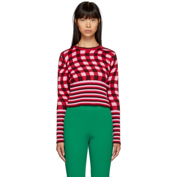 MOLLY GODDARD PINK AND RED FIFI JUMPER