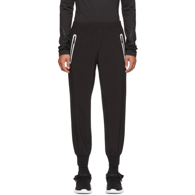 BLACKBARRETT Blackbarrett By Neil Barrett Black Heat Seal Track Pants in Black/White