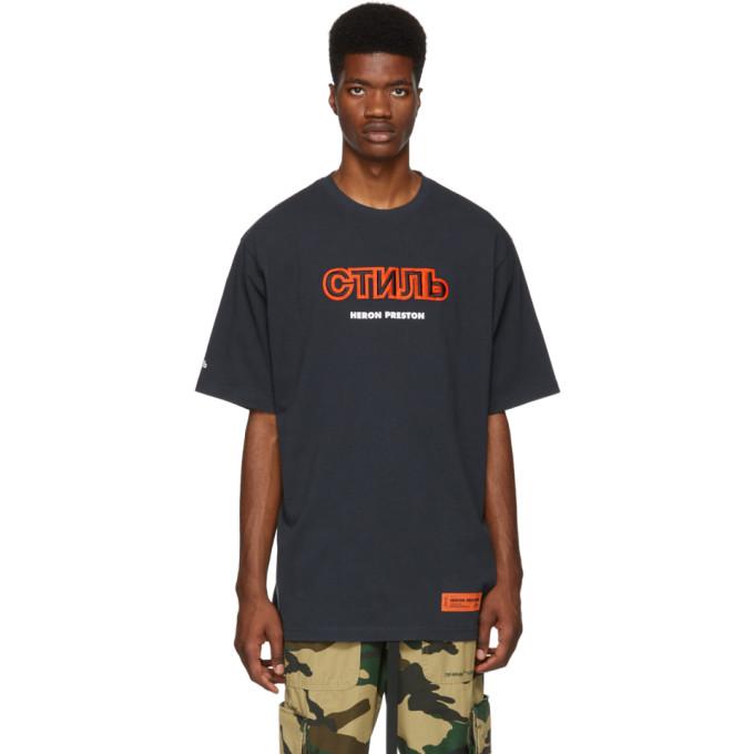 HERON PRESTON Стиль Cotton T-Shirt in Blue