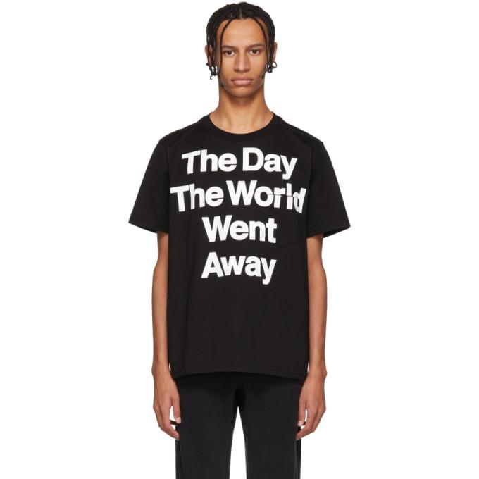 Black 'the Day The World Went Away' T Shirt by Takahiromiyashita Thesoloist.