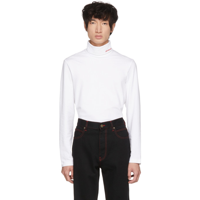 White Logo Turteneck by Calvin Klein 205 W39 Nyc