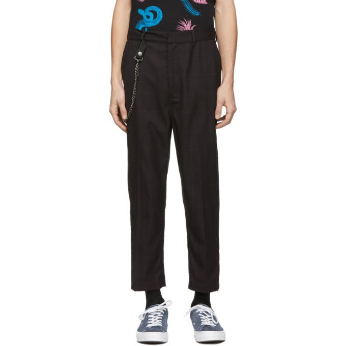 Black Check Sid Trousers by Ksubi