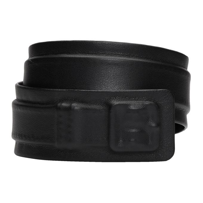 Black 3 D Wrap Bracelet by Maison Margiela