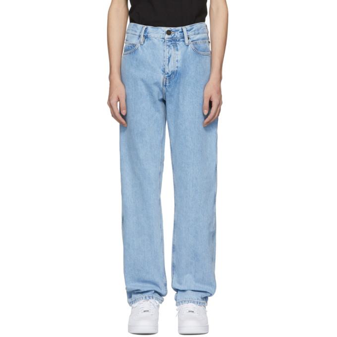 Blue Straight Jeans by Calvin Klein Jeans Est. 1978
