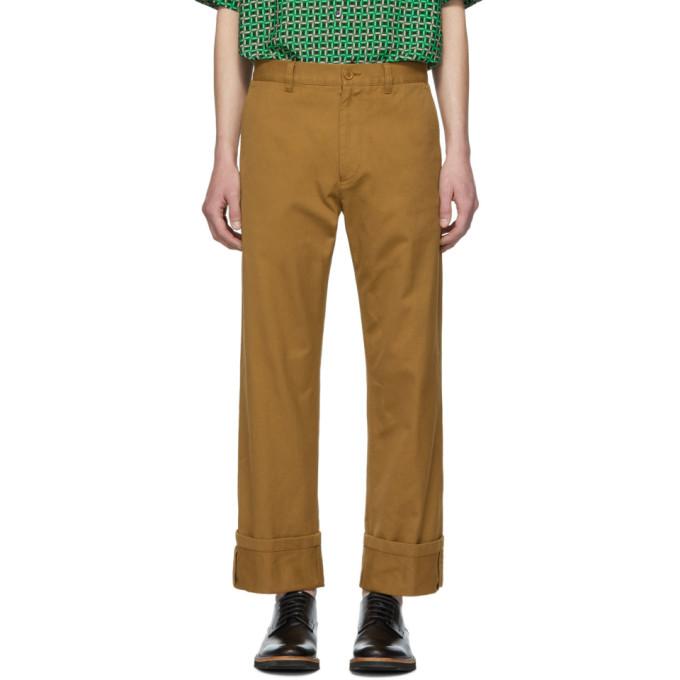 Brown Petrick Trousers by Dries Van Noten