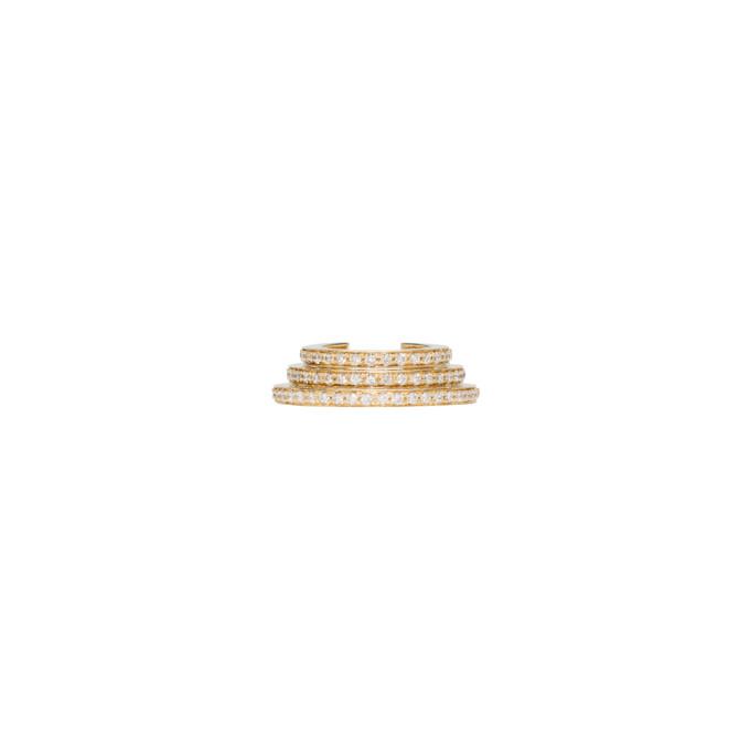 Gold Spirale Oreille Cuff by Sophie Bille Brahe