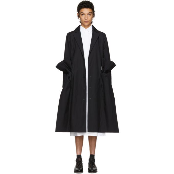 ROBERTS WOOD Roberts | Wood Black Cambric Side Bow Coat