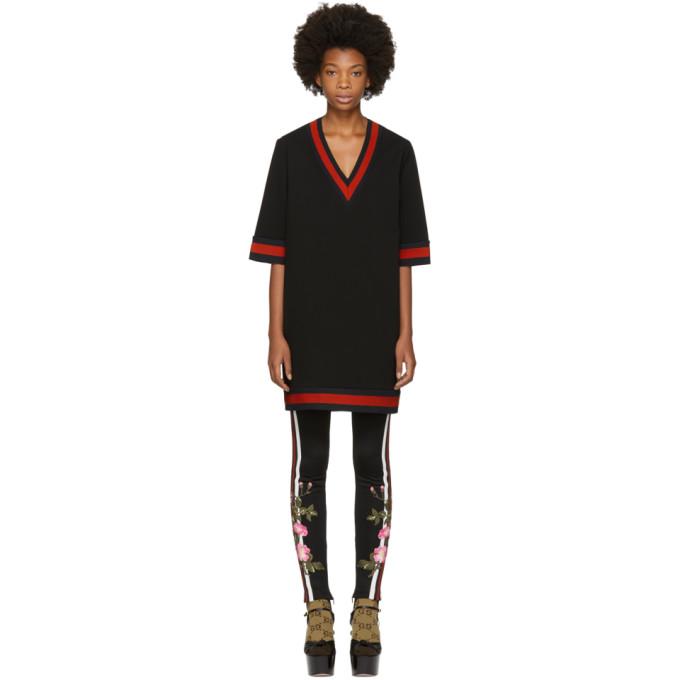 Black Stretch Viscose Web Dress