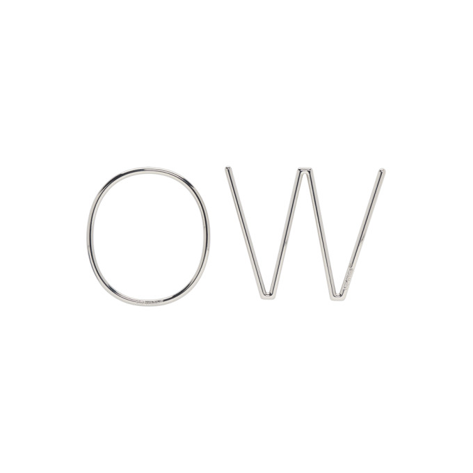 OFF-WHITE OFF-WHITE SILVER OW EARRINGS