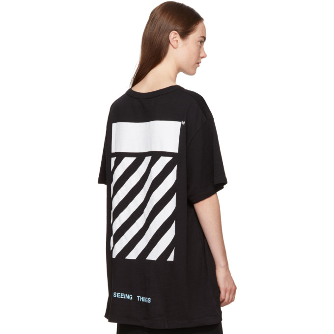Off White Oversize Caravaggio Print Jersey T Shirt In