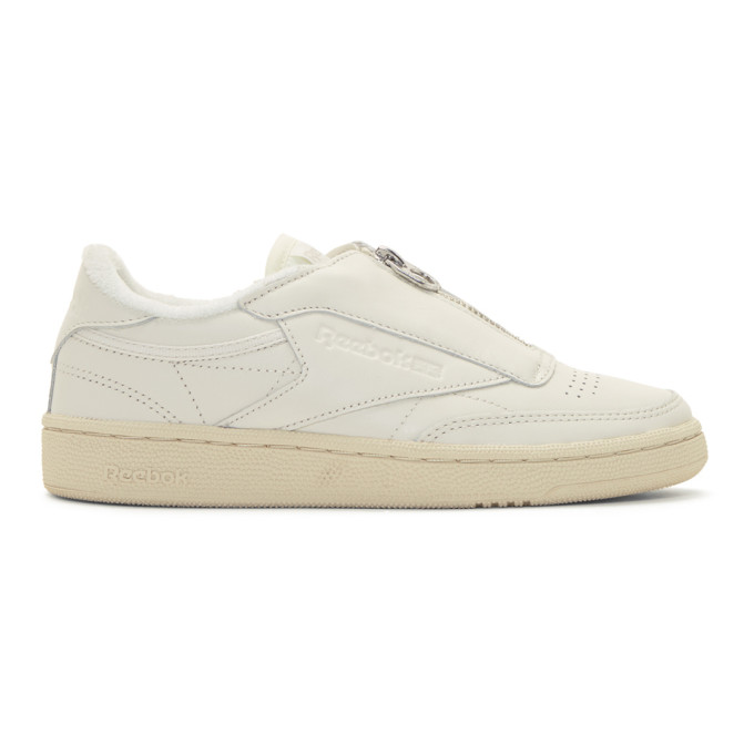 White Club C 85 Zip Sneakers