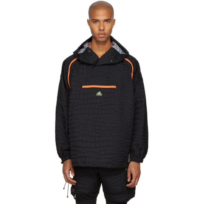 ADIDAS BY KOLOR Adidas X Kolor Black Nylon Embossed Jacket