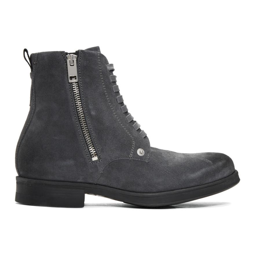 Grey D-Vicious Boots Diesel