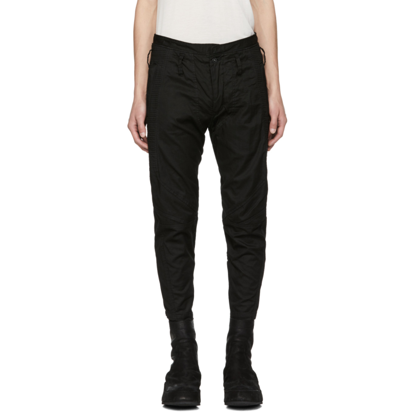 Black Ribbed Trousers by Julius