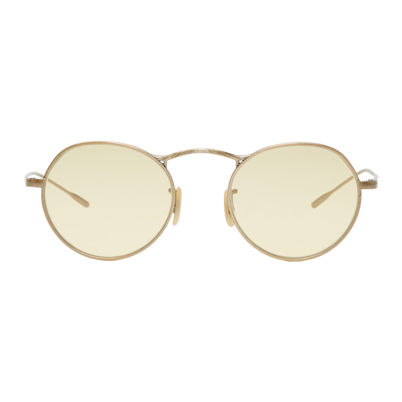 Oliver Peoples Gold & Yellow M-4 30th Sunglasses