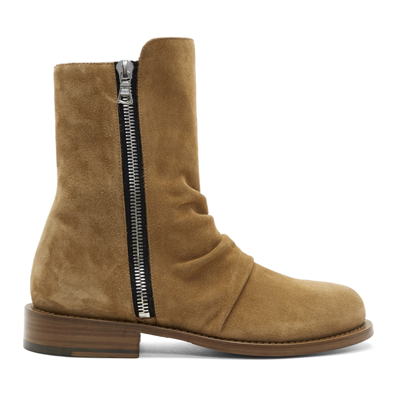 Tan Suede Stack Boots by Amiri