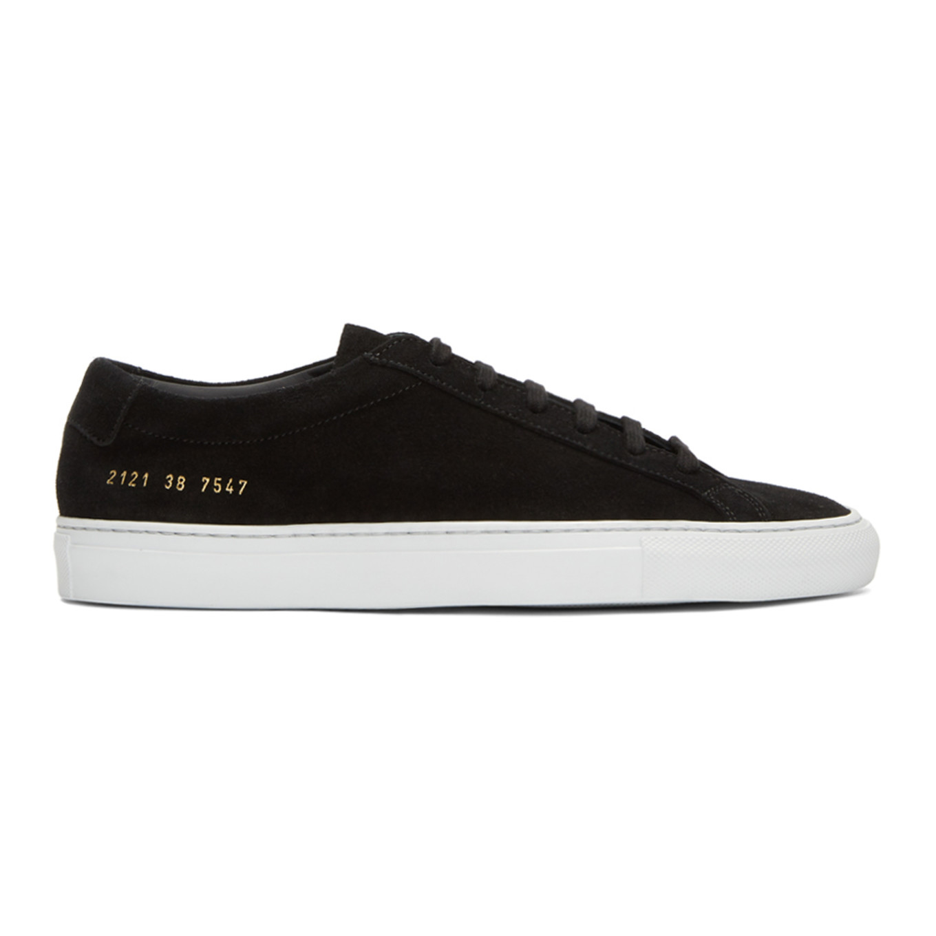 Black & White Suede Original Achilles Low Sneakers by Common Projects