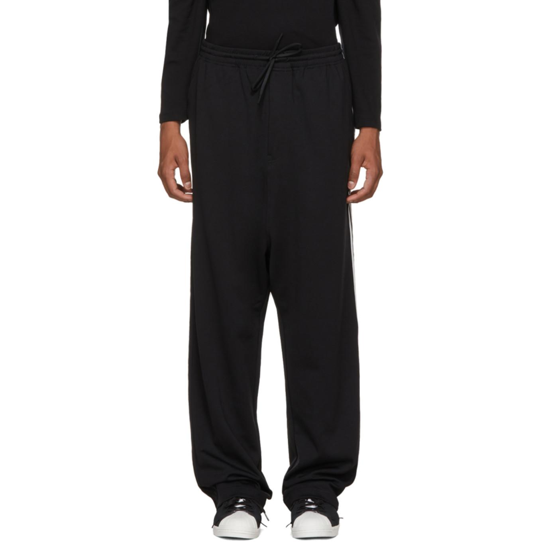 Black Logo 3 Stripes Wide Lounge Pants by Y 3